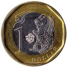 Gambar Uang Koin Singapura Money Changer Terima Koin Dolar Singapura Dolar Lama Rusak