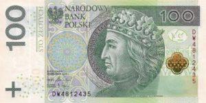 Money Changer Menerima Uang Polandia Zloty