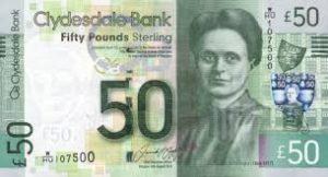 Jual Uang Poundsterling Skotlandia di Jakarta